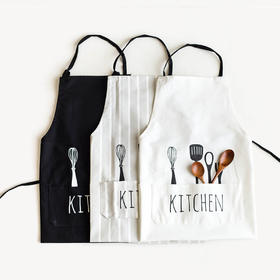 摩登主妇创意欧式围裙布艺围裙厨房家居工作服面包店半身围裙
