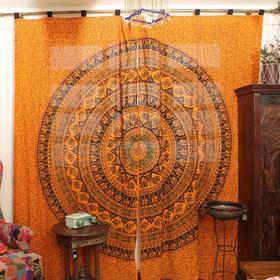 印度彩花窗帘