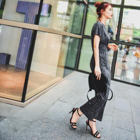 [屁侠.pippa]御姐裙二代 腰部交叉 遮住所有小缺点 杂灰色 连衣裙