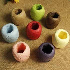 【礼品盒烘焙包装带】拉菲草绳 棕榈绳 DIY装饰纸绳多色选