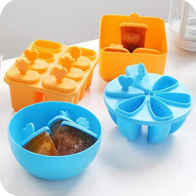 【创意冰棍冰棒雪糕模】方形圆形制冰盒 DIY棒冰模具