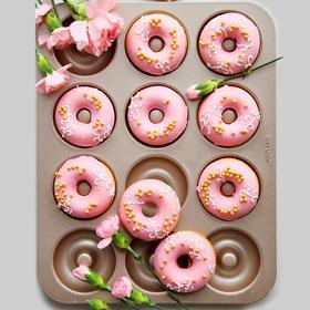 【chefmade学厨金色12连杯不粘甜甜圈蛋糕模】wk9225