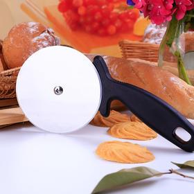 【黑胶手柄优质不锈钢披萨轮刀】 披萨饼干切割刀