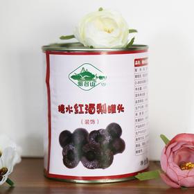 【烟台山糖水红酒梨罐头820g】