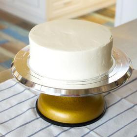 【优质不锈钢蛋糕裱花转台】裱花台