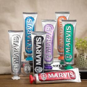 意大利进口代购marvis玛尔斯爱马仕牙膏美白去黄去渍烟渍防蛀抗菌