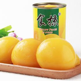 黄桃罐头对开糖水食品砀山速食出口 425g/罐*5