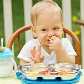 【吴尊同款】Innobaby儿童餐具7件套美国进口依路比巴士不锈钢汤碗叉勺套装
