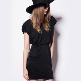 【骆驼子品牌-小虫】小虫夏装新款抽褶设计包臀修身气质礼服连衣裙XC14Q1087