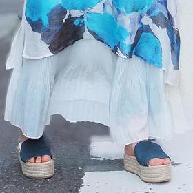 杨丽萍艺术【蓝色倾情休闲厚底凉鞋】