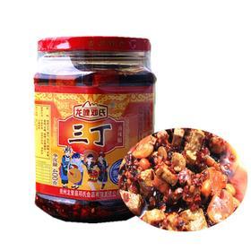 乡味 贵州站 特产龙哩邓氏三丁油辣椒 瓶装400克 小吃