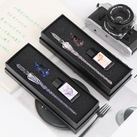 【包邮】创意手工制作玻璃蘸水笔中套装礼品  文具