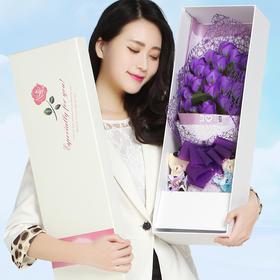 浪漫香皂玫瑰花束 高档礼盒包装