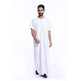 穆斯林男士长袍袍 | 夏季礼拜服 | 苎麻面料—透气、吸汗、凉爽