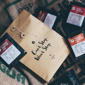 三顿半 精品挂耳咖啡包 新鲜烘焙现磨黑咖啡粉 多产地风味澎湃装 10g*20包