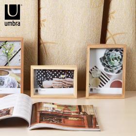umbra爱集实木相框摆台 欧式创意木质复古照片相片框简约画框