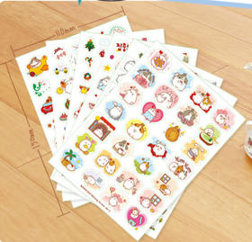 君道 韩国molang胖兔第三季贴纸 DIY手工装饰贴纸 日记贴纸