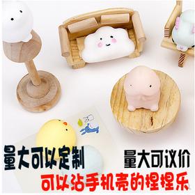 日本可爱创意礼物小海豹君发泄玩具减压捏捏乐公仔小萌宠团子摆件