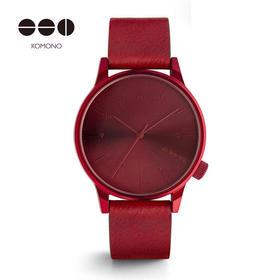 比利时手表 简约时尚个性狂野大红色腕表