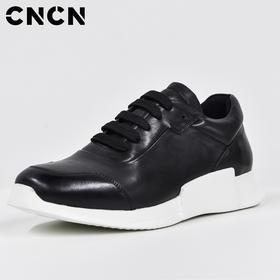 CNCN男装 2017夏季新款牛皮运动鞋 男时尚增高休闲鞋 CNCP33305