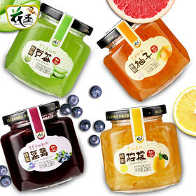 [产地寻味]蜂蜜柚子茶柠檬茶蓝莓芦荟238g*4原装果味茶酱冲饮品