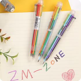 可爱伸缩笔彩色个性圆珠笔
