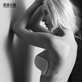 台湾波波小姐 充气隐形文胸贴乳贴 加厚聚拢 婚纱nubra 无肩带内衣