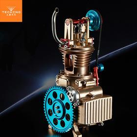 【机械控的玩具】拼装发动机模型系列-单缸凸轮顶置发动机