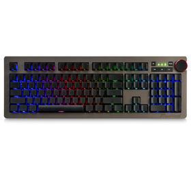【吃鸡神器】黑爵青轴机械键盘 RGB侧刻104键