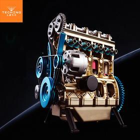 【机械控的玩具】拼装发动机模型系列-直列四缸发动机