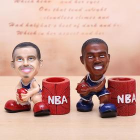 创意树脂NBA球星笔筒摆件