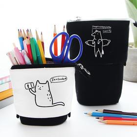 帆布大容量韩国文具笔盒笔筒