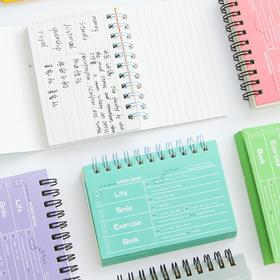 100K线圈英语单词本 荧光色语言学习记忆手册小本子