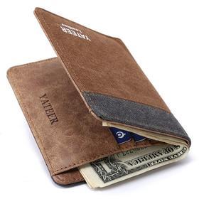 wish AE 男士新款钱包卡包 短款帆布钱包