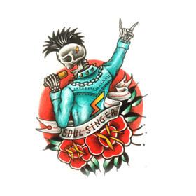 原创图 | 美式传统灵魂歌手 by 纹身师 K