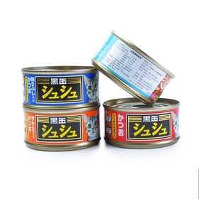 玛鲁哈 进口黑罐咻咻  6连罐 金枪鱼80G猫湿粮