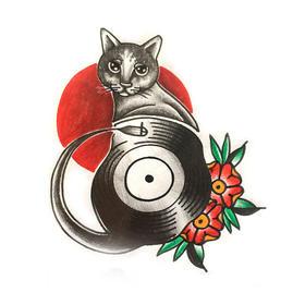 原创图 | 美式传统黑猫唱片 by 纹身师 K