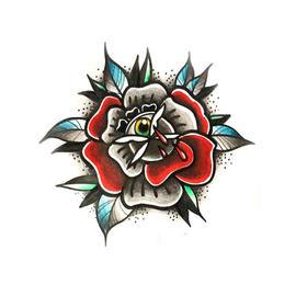 原创图 | 美式传统玫瑰 by 纹身师 K