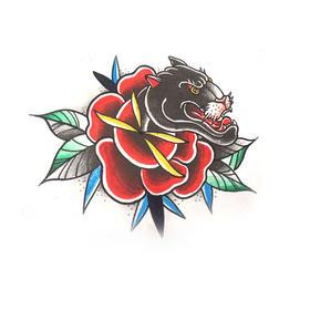 原创图 | 美式传统黑豹2 by 纹身师 K
