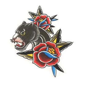 原创图 | 美式传统黑豹 by 纹身师 K