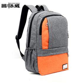 新款尼龙休闲中学生书包 潮流双肩包男女  防水运动旅行背包定制