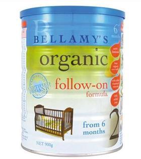 澳洲Bellamys贝拉米2段有机婴幼儿牛奶粉900g