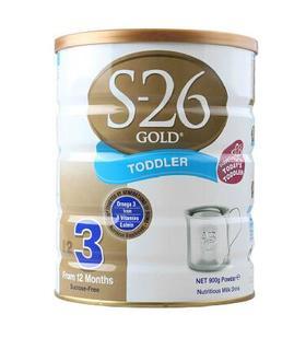 新西兰S26惠氏金新生婴儿牛奶粉3段(1-3周岁宝宝)900g