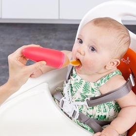 美国品牌 BOON 挤压式喂养勺 4个月以上宝宝适用
