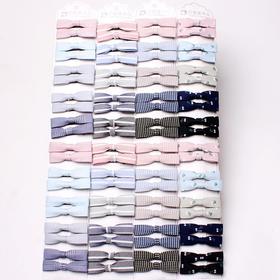新款韩版发夹卡装蝴蝶结边夹时尚浅色系发饰