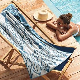 康尔馨星级酒店游泳浴巾夏季男女士沙滩巾  旅游度假 纯棉成人 柔软超强吸水 加大尺寸 双面色织提花