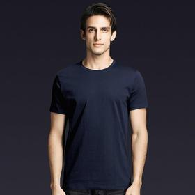 短袖t袖男圆领gracebox夏季新款纯棉标准版上衣半袖纯色简约体恤 百分百长绒棉,机洗不变形不缩水