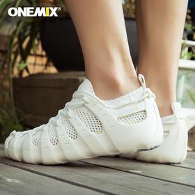 一双鞋子能当凉鞋、休闲鞋、袜鞋,三种穿法的onemix玩觅男女套装鞋