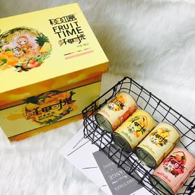 【限乌市地址!】桃如意鲜果时光礼盒 包含菠萝黄桃杨梅蜜橘四种口味(425g*12罐/件,内含四种口味)