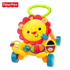 费雪学步车狮子手推车防侧翻7-18个月婴儿宝宝幼儿助步多功能音乐